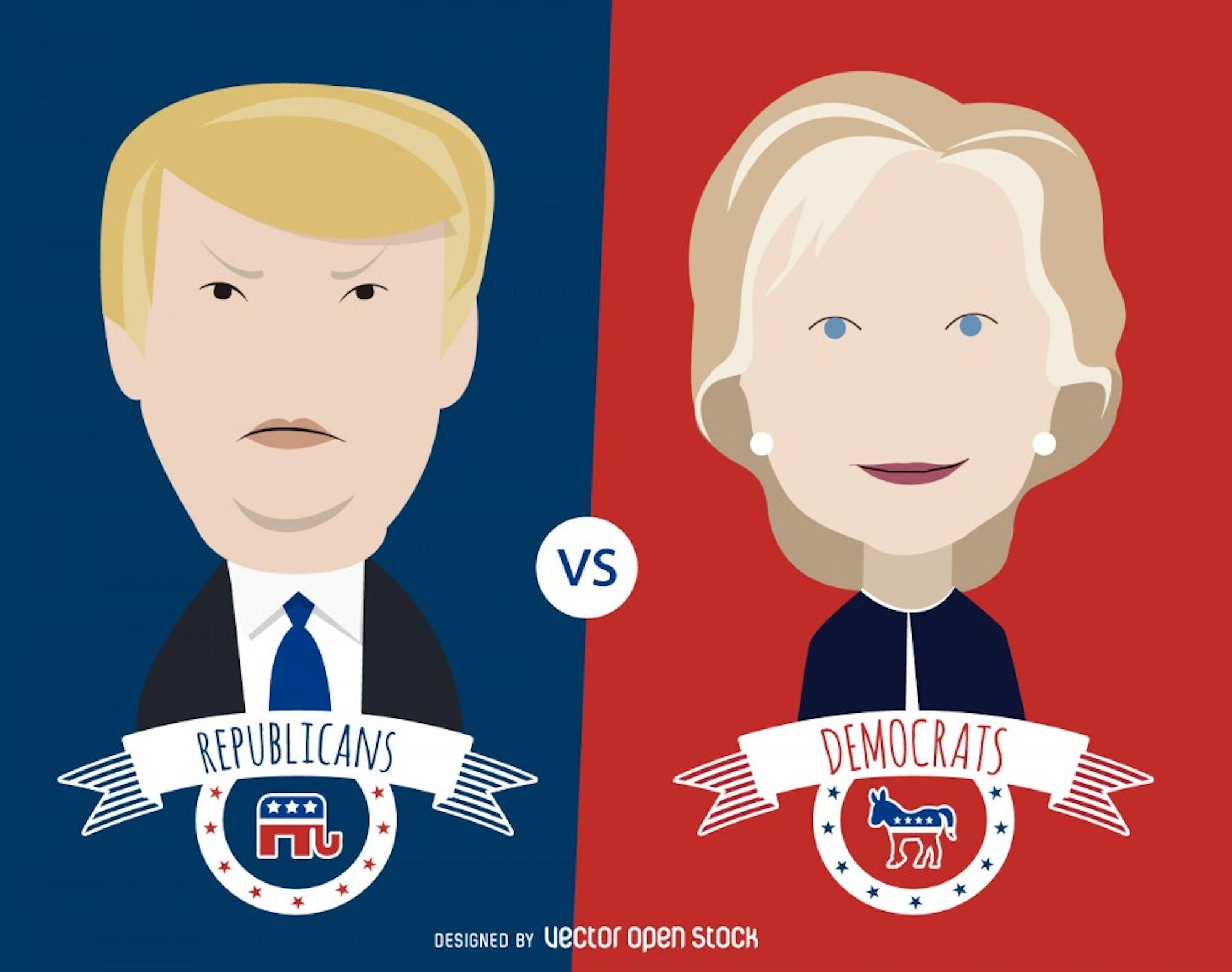 clinton_and_trump_cartoon_illustration