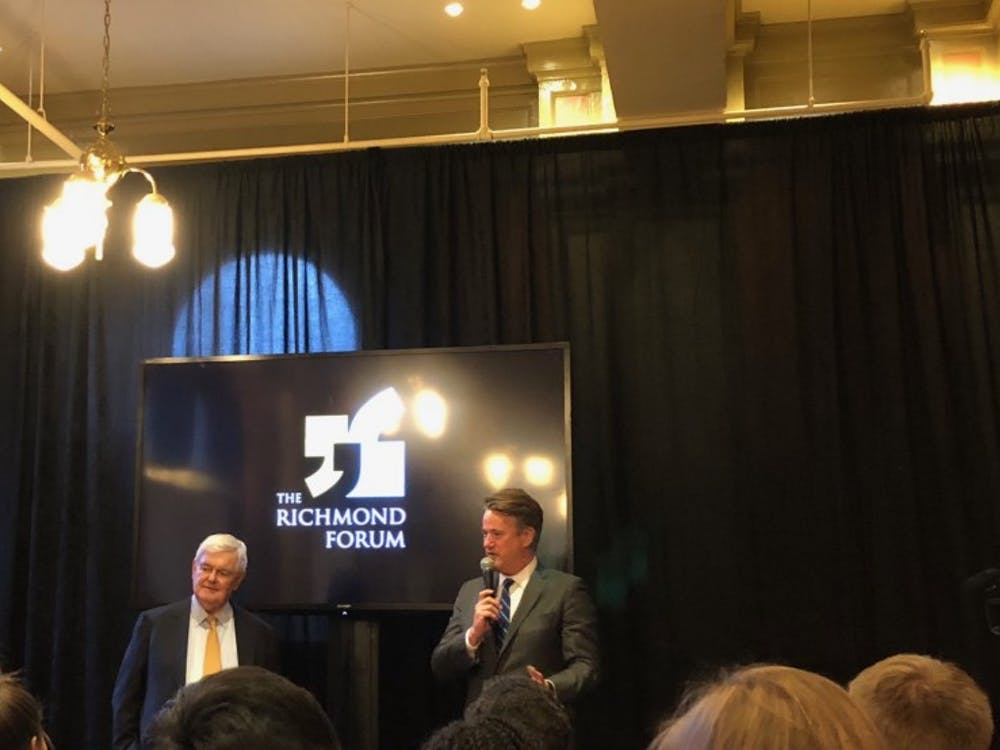 Newt Gingrich and Joe Scarborough speak about the Republican Party at The Richmond Forum event.