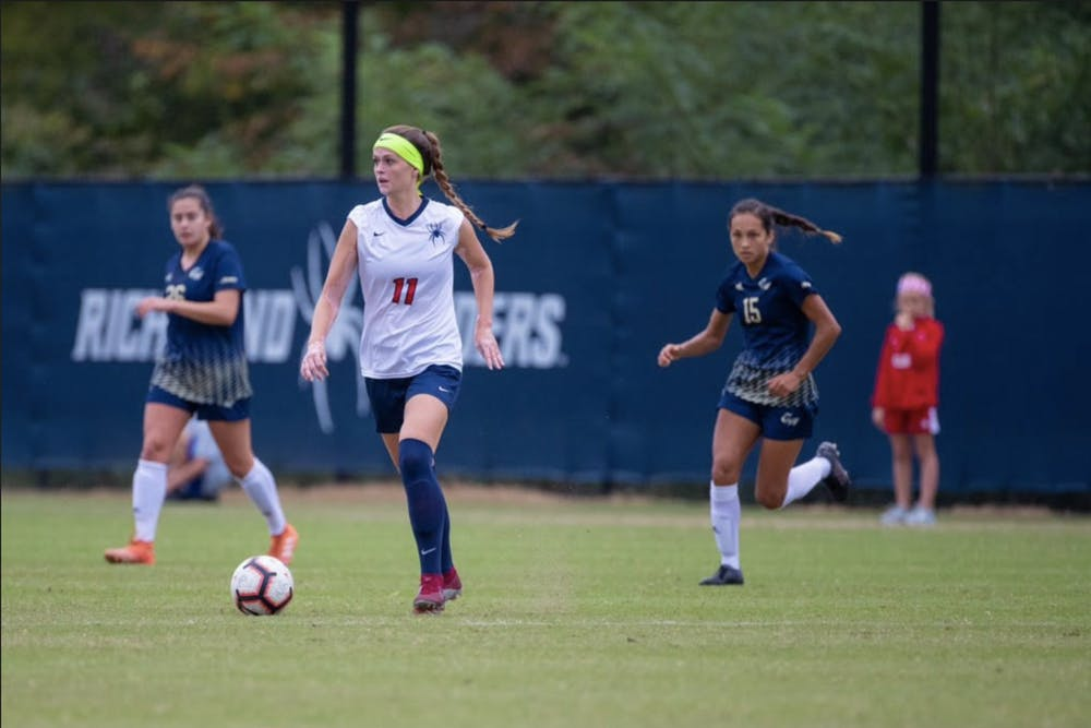 <p>Alyssa Walker on the field during her tenure on the UR Women's soccer team. <em>Courtesy of Walker</em></p>