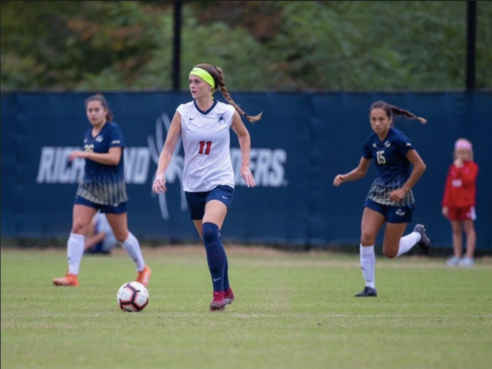 Alyssa Walker on the field during her tenure on the UR Women's soccer team. Courtesy of Walker