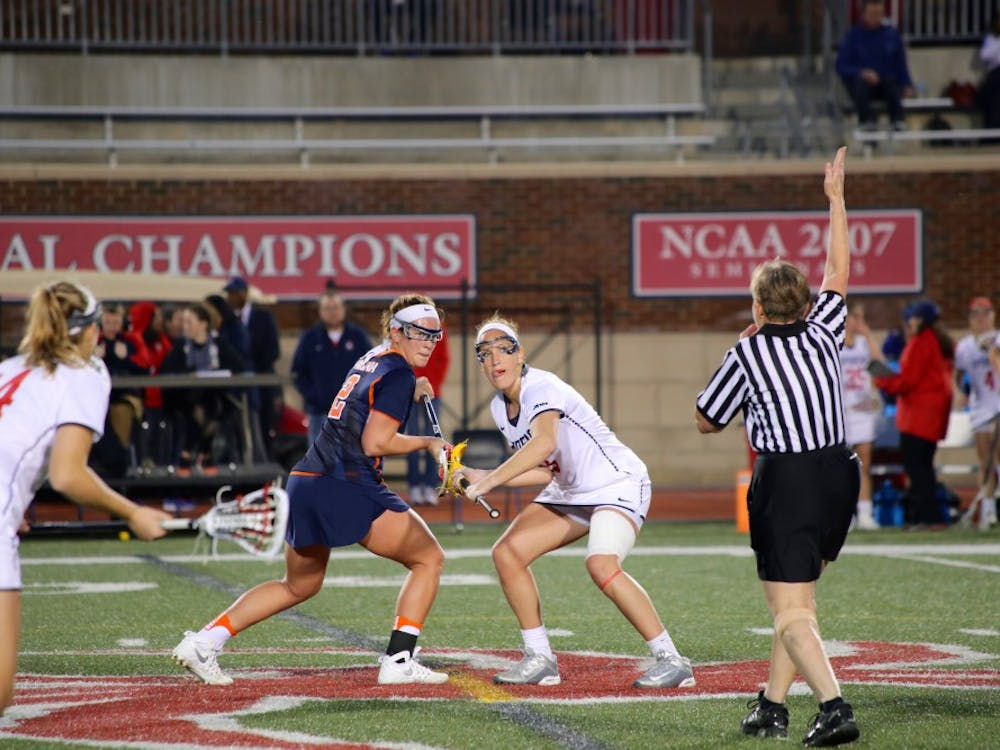 Richmond women's lacrosse lost a close game to UVA Wednesday night at Robins Stadium. The final score was 15–14. The Spiders' next game is Wednesday, March 1.All photos by Sophia Bruce/The Collegian.