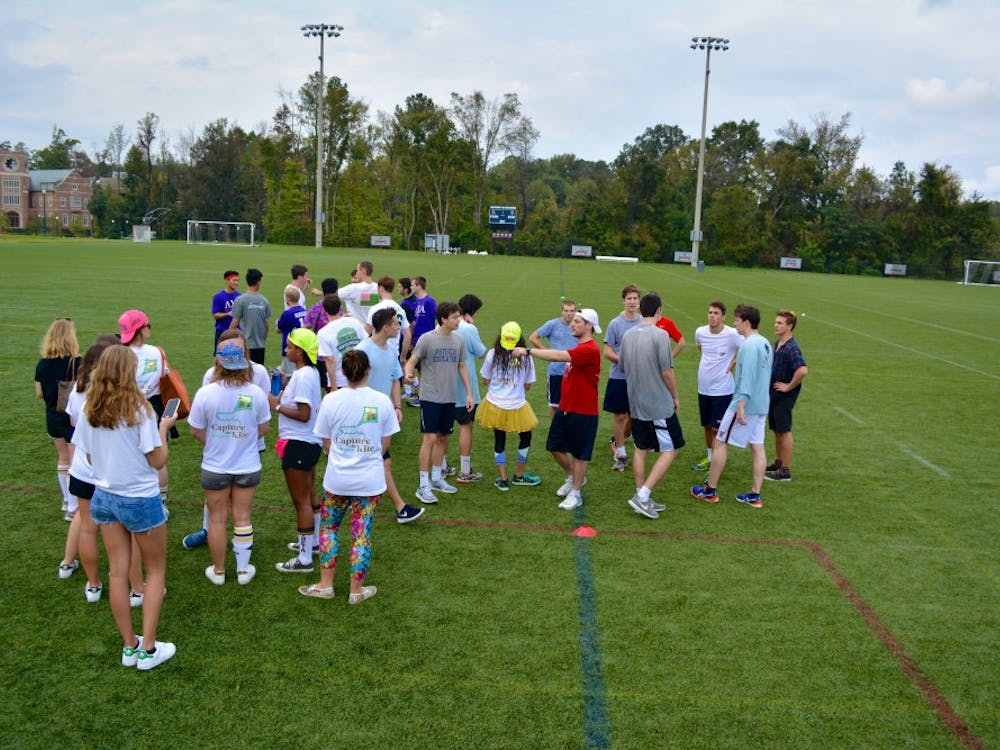 University of Richmond teamsparticipated inKappa Alpha Theta'sphilanthropy event, Capture the Kite, on the university's Intramural fields Oct. 21. Proceeds from the event will benefit the Jamie and Paige Malone Foundation.