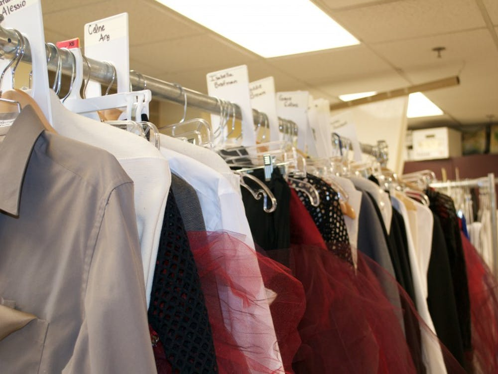 Each costume is handmade then organized into racks by dancer.
