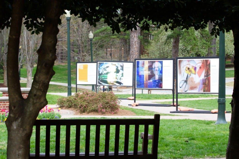 <p>The Bought and Sold outdoor photography&nbsp;installation&nbsp;created by Kay Cherish&nbsp;is&nbsp;on&nbsp;display&nbsp;in front of Jepson Hall from March 29 until April 16, 2018.</p>