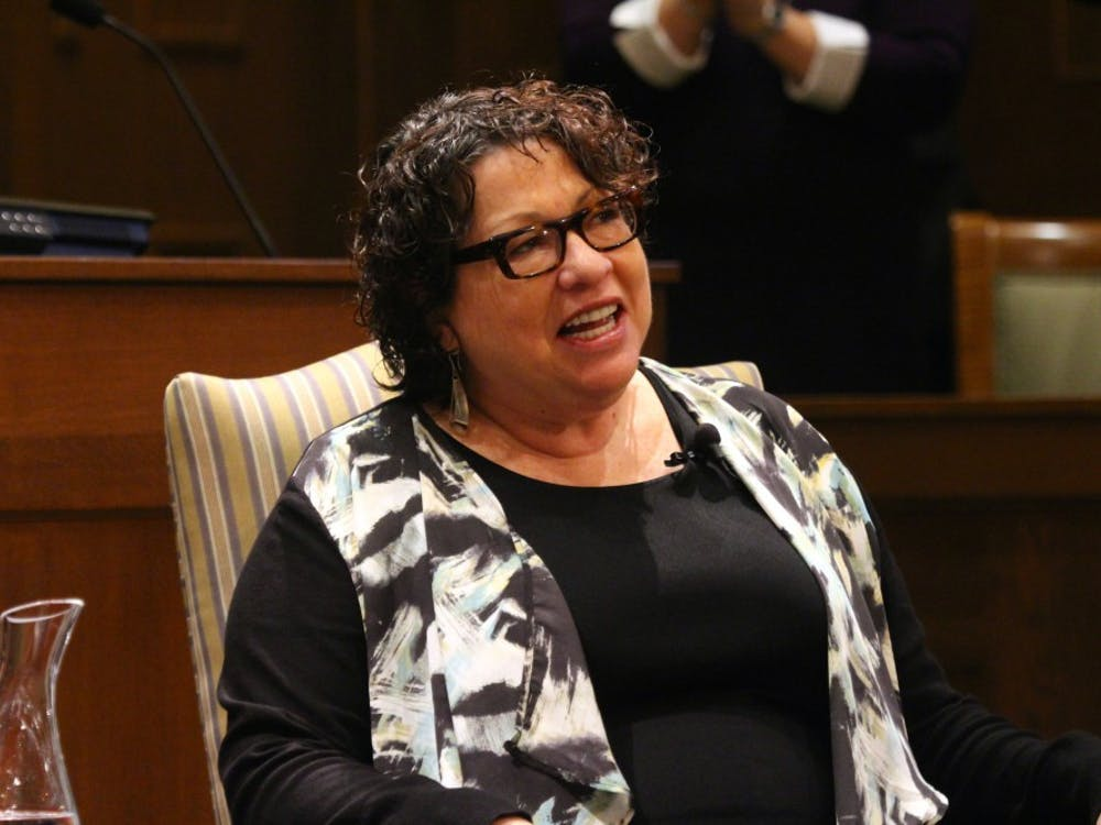 Supreme Court Justice Sonia Sotomayor addresses an audience of Richmond Law students and university faculty on Nov. 17, 2015 at the Richmond School of Law.