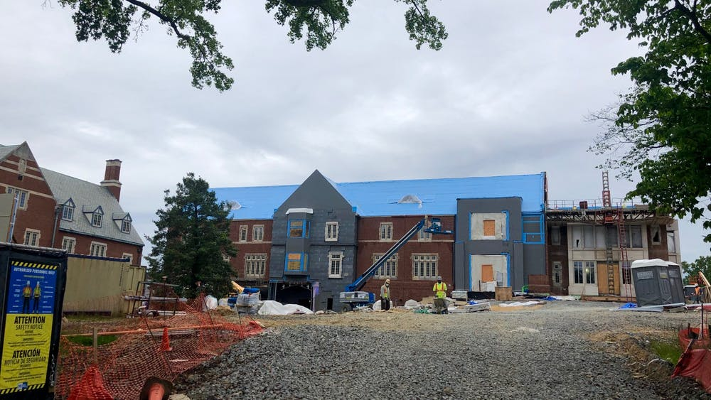 Construction for the Well-Being Center continues during the COVID-19 pandemic.