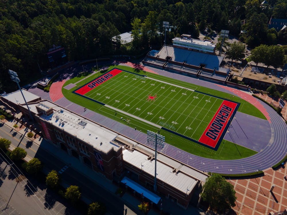 The Robin's Stadium. The stadium and track have not been in official athletics since sports were suspended for COVID.