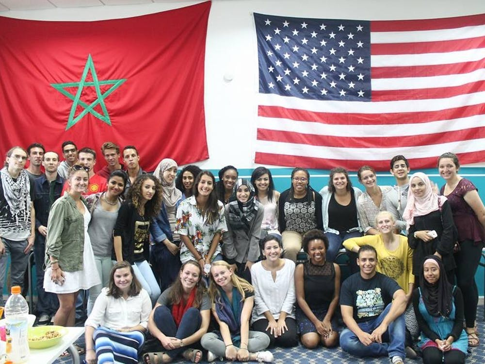 Perri and other students at Mohammed V University in Rabat, Morocco. | Courtesy of Perri Goldstein.