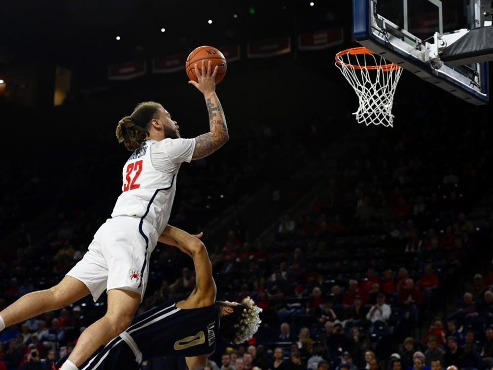 Senior guard Julius Johnson during Saturday night's win against George Washington in the Robins Center.
