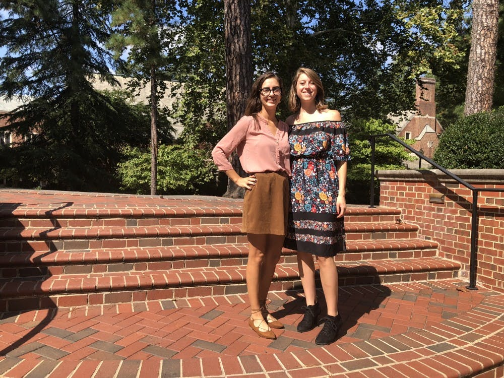 <p>Sam Biggio (left) and Heidi Drauschak (right), cofounders of CrowdLobby and two graduates of the T. C. Williams School of Law.&nbsp;</p>