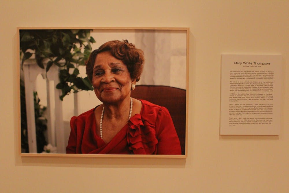"""<p>A portrait of Mary White Thompson, a Richmond native who grew up during the Civil Rights era, featured in the """"Growing Up in Civil Rights Richmond: A Community Remembers"""" exhibit.&nbsp;</p>"""