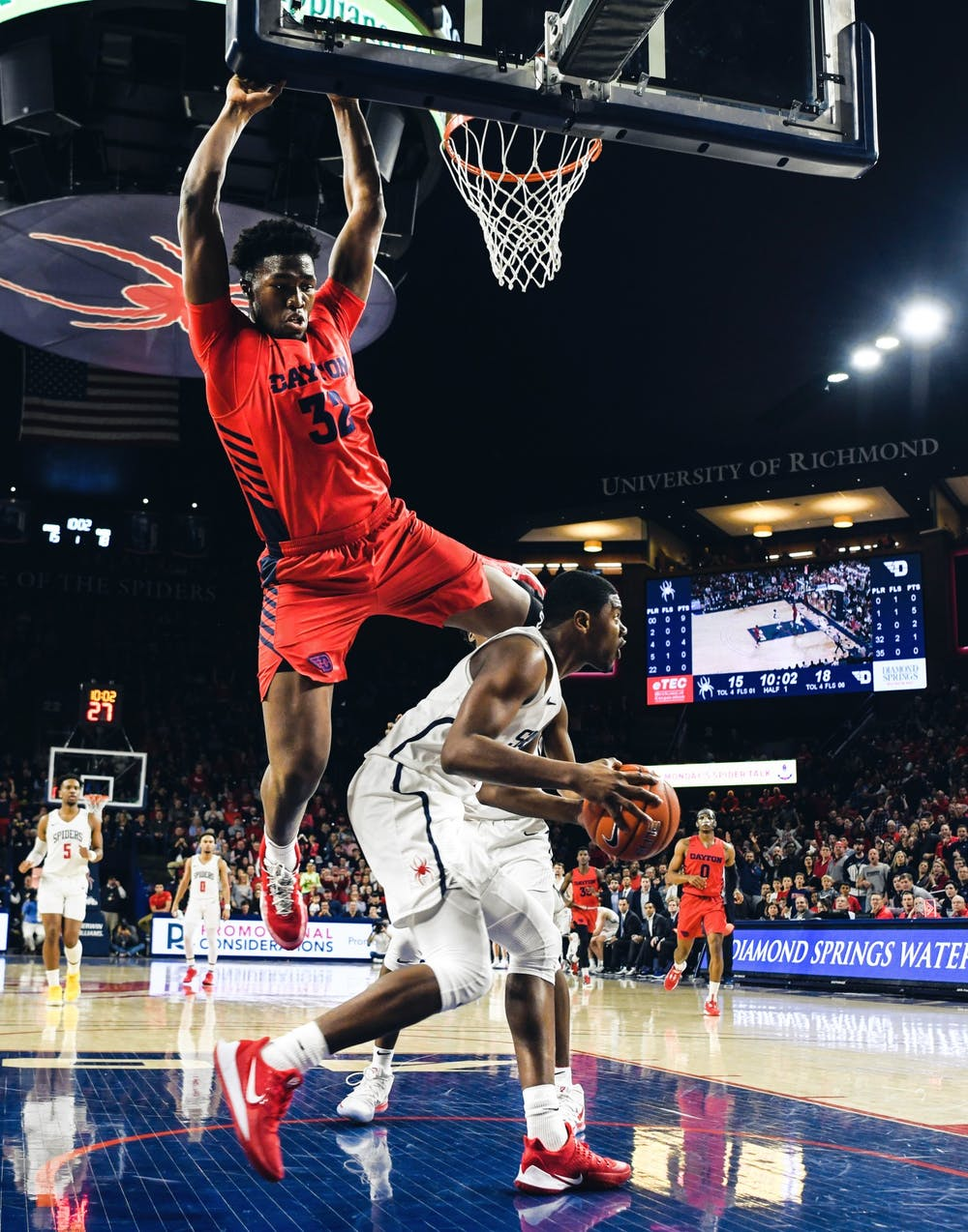 <p>The men's basketball team played the Dayton Flyers on Saturday, Jan. 25, 2020.&nbsp;</p>