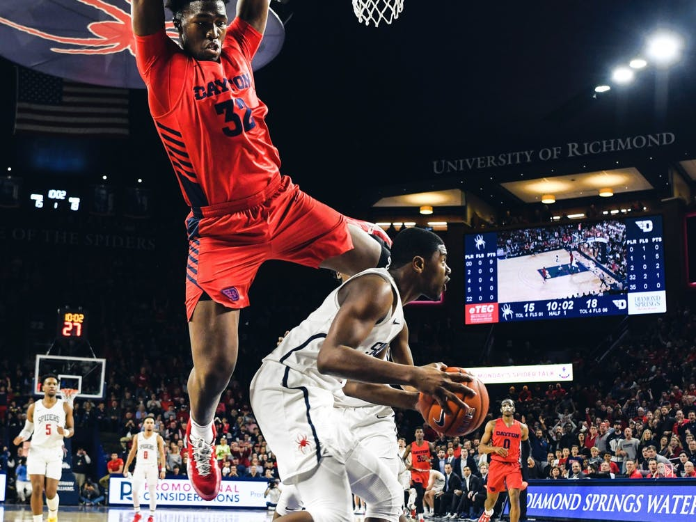 The men's basketball team played the Dayton Flyers on Saturday, Jan. 25, 2020.
