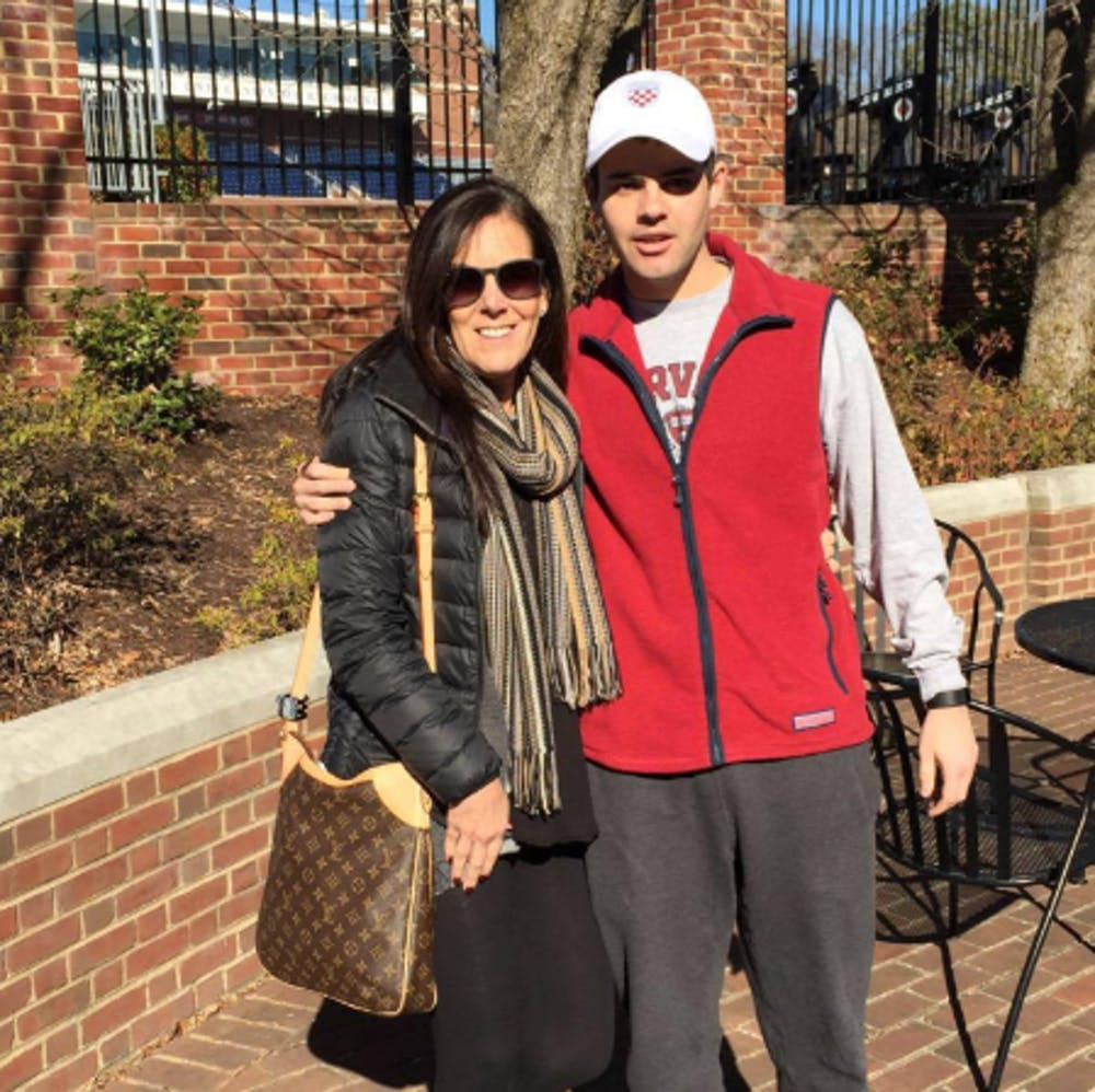 <p>Jonathan Teller, a junior, and his mother, Jane Teller</p><p>Photo courtesy of Jonathan Teller</p>