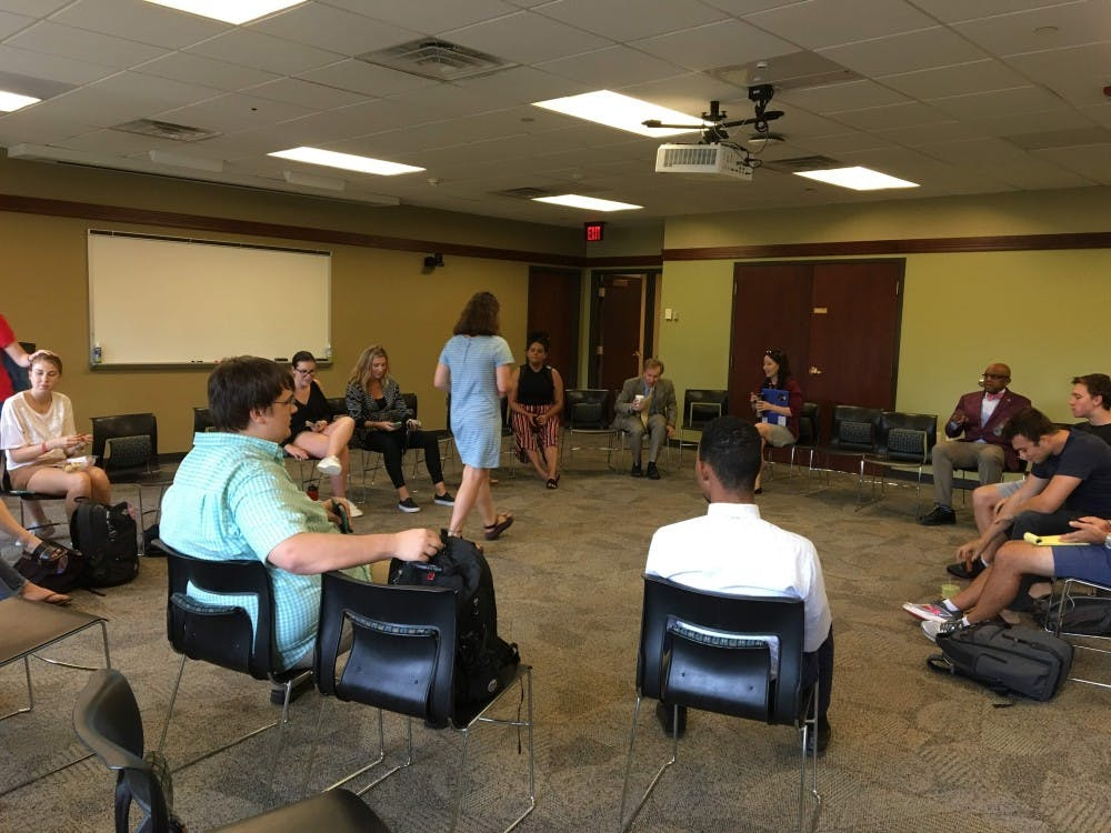 Students at the Panel with the President event, hosted by President Crutcher, WCGA and RCSGA on Tuesday, Oct. 9.