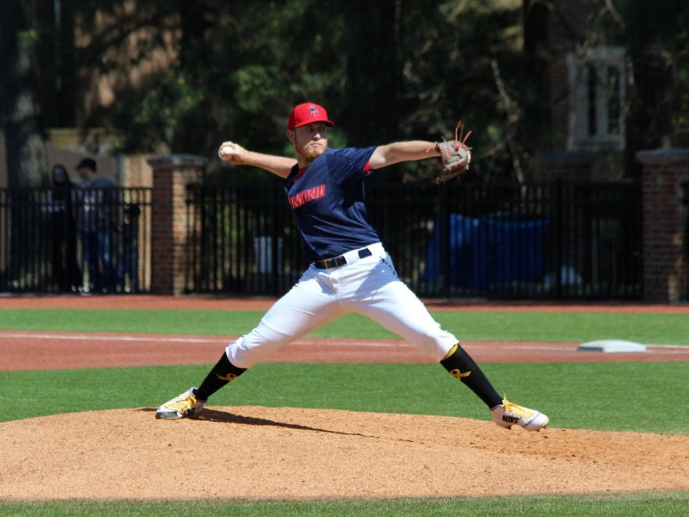 JuniorPeter Bovenzi pitches during anApril 21 game against Davidson. The Spiders lost 3-0.