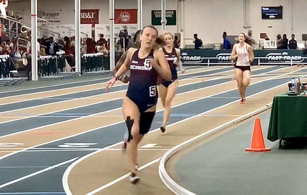 <p>Kayla O'Connell running a 600 meter race at JDL Fast Track Indoor Track and Field event in Winston-Salem, North Carolina. <em>Courtesy of Richmond XCTF</em></p>