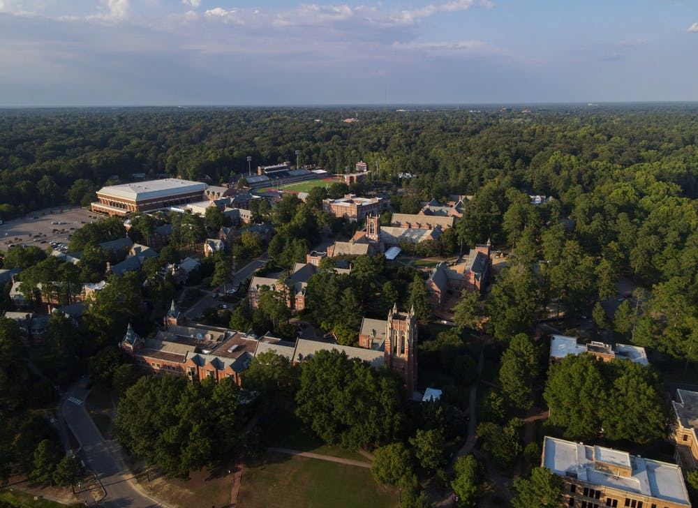 <p>An aerial glimpse at the University of Richmond campus.</p>