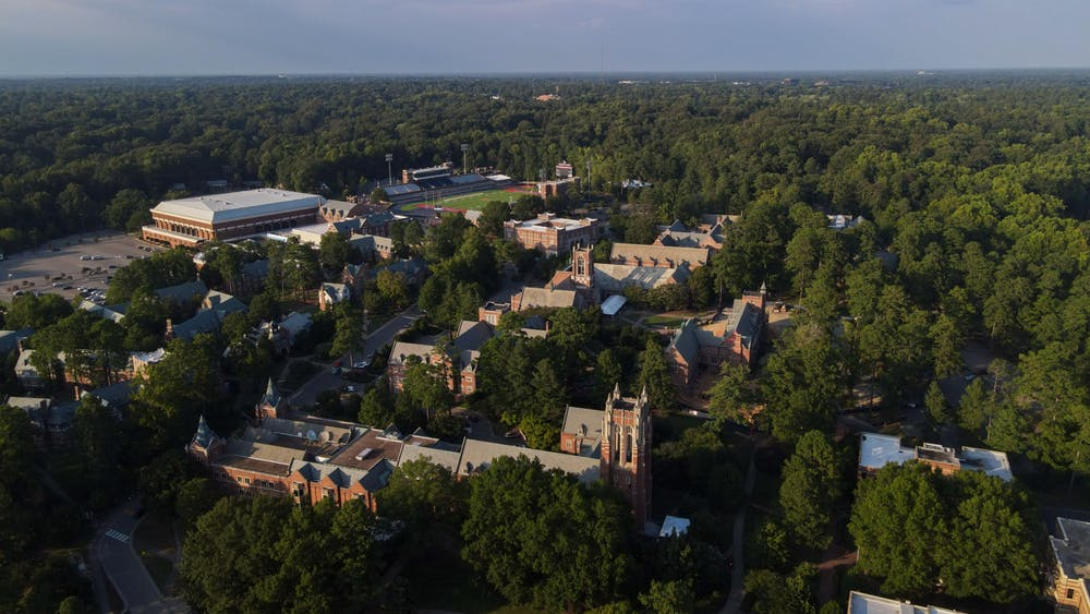 An aerial glimpse at the University of Richmond campus.