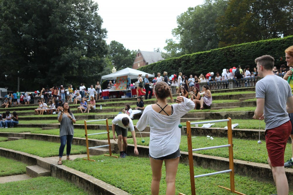 <p>Trucks and Tunes, the first of the block parties, took place in the Greek theater attracted more than 900 students, said Lauren Foligno, assistant director for programming at the Center for Student Involvement.</p>