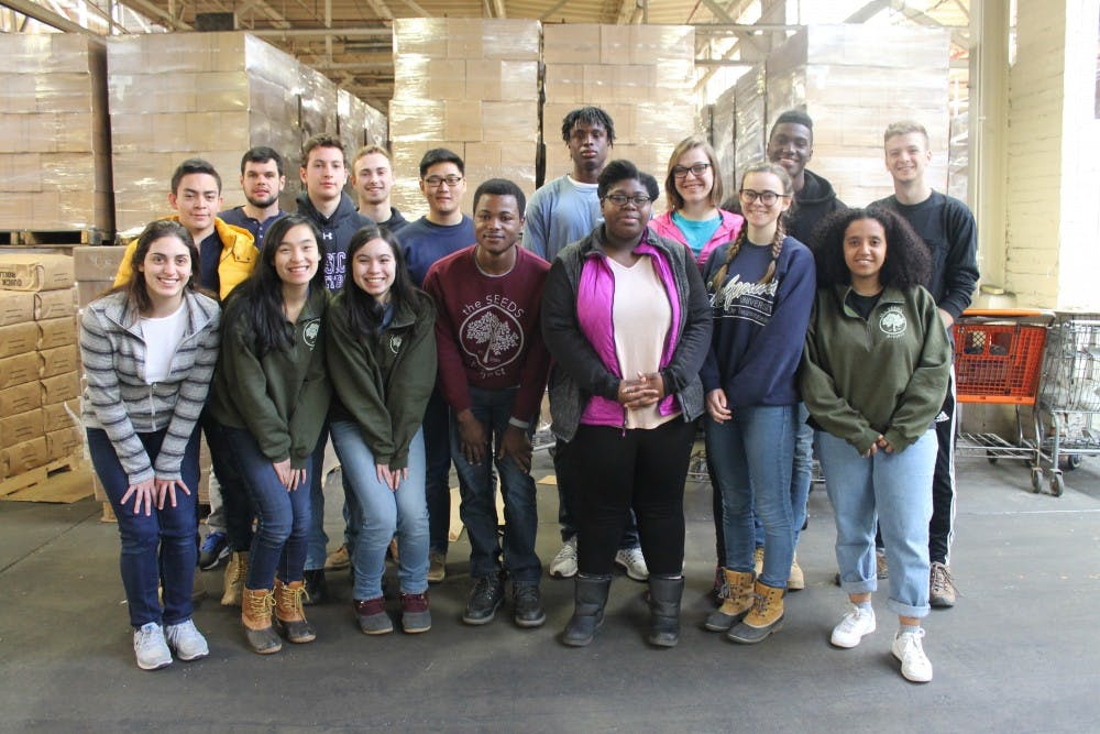 <p>Fifteen&nbsp;University of Richmond students spent their spring break on a service trip to Detroit, Michigan as part of The SEEDS Project. Photo courtesy of Marie Fernandez.&nbsp;</p>