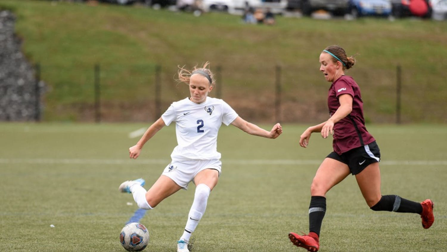 Senior Viking midfielder Darby Doyle in a match against Seattle Pacific University on April 24, 2021. The Vikings suffered their first defeat of the season at Seattle Pacific. // Photo Courtesy of Christian Serwold