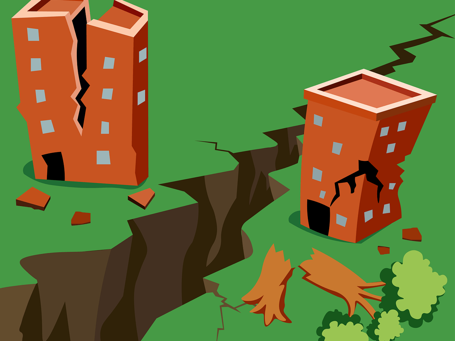With several significant fault lines in the region, Western Washington University is at risk from major earthquakes. Western administration, local experts and a student from Alaska have provided their insights on how to prepare for these major natural disasters. // Illustration via Pixabay