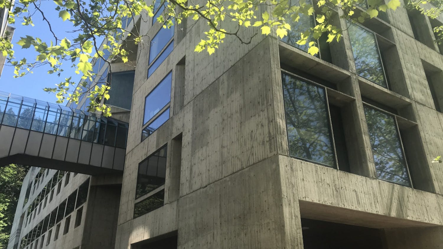 A view of Western Washington University's Huxley College of the Environment. The Legacy Review Task Force's deadline approaches to submit recommendations for the new building name. // Photo by Kate Yeoman