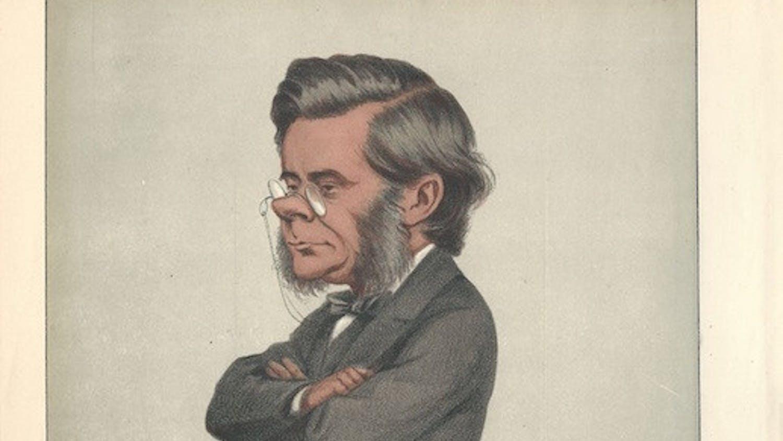 A caricature of Thomas Huxley drawn by Carlo Pellegrini for Vanity Fair in 1871. // Public domain photo.