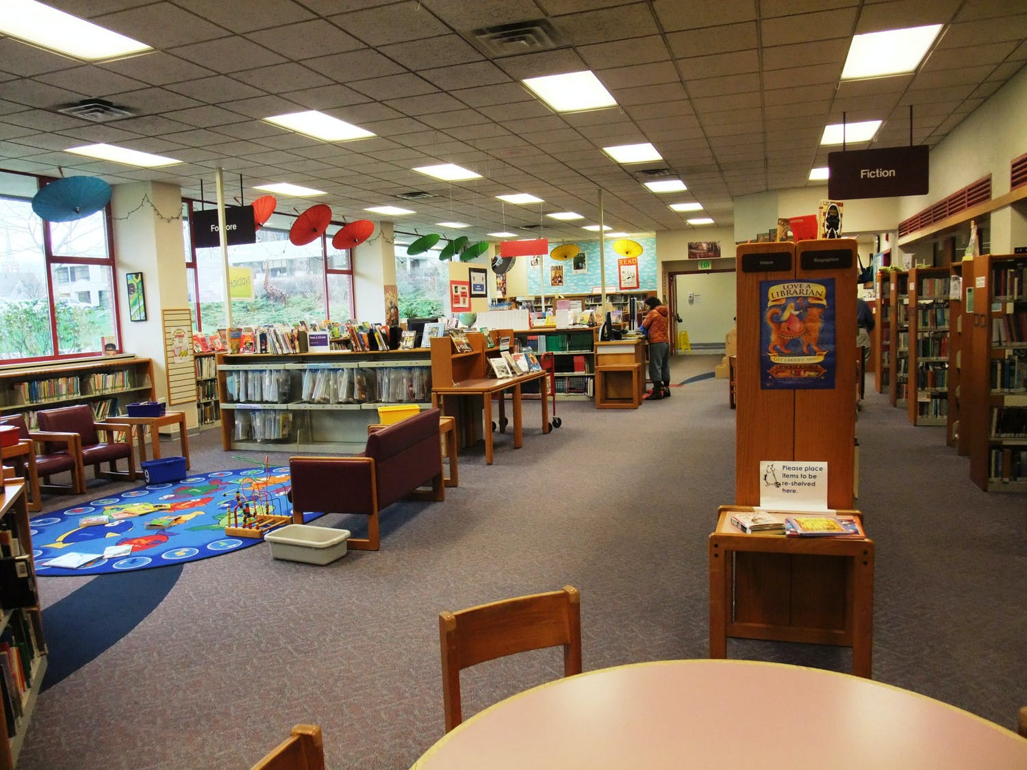 The children's section of the Bellingham Public Library in Bellingham, Wash. The library is challenging children of all ages to get excited about reading over the summer with its annual summer reading program beginning June 1. // Photo courtesy of Ahniwa Ferrari via Flickr